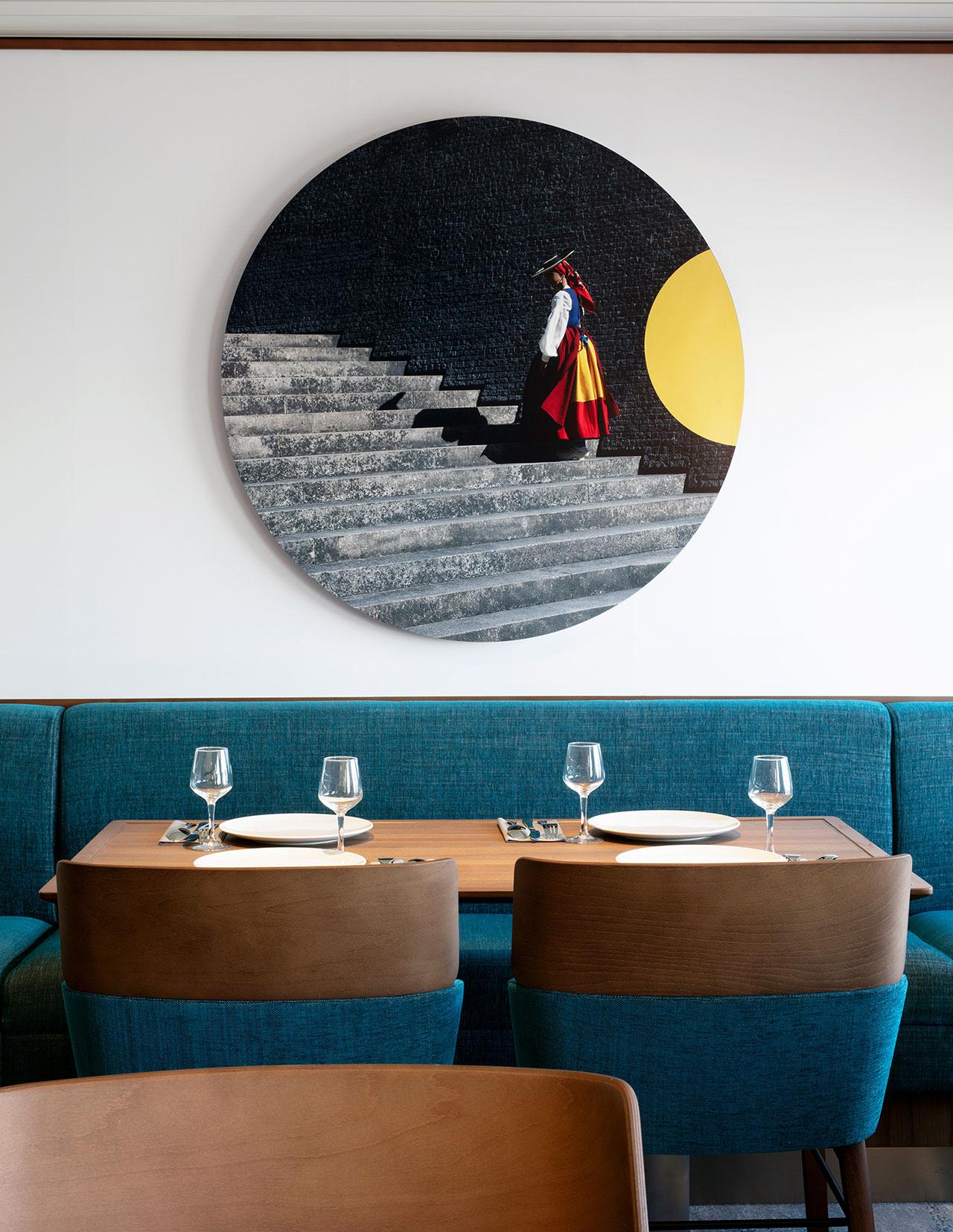AZUL Restaurant. Art & Photography by Klunderbie.
