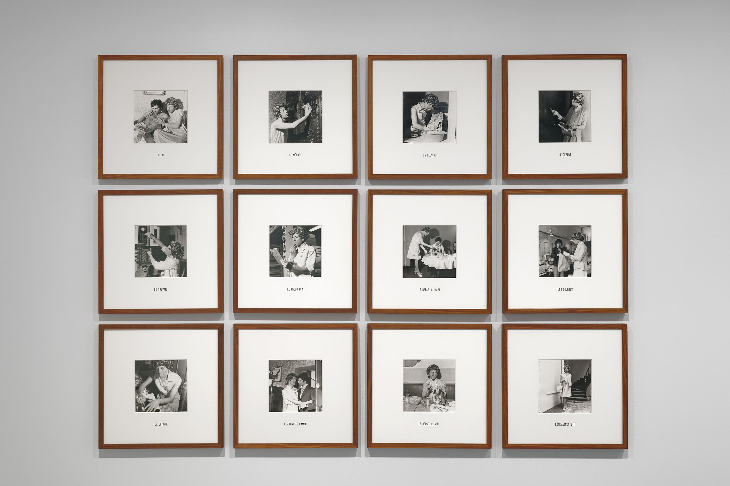 Michel Journiac, 24 heures de la vie d'une femme ordinaire, 1974. © Michel Journiac / ADAGP, Paris 2020 Courtesy Galerie Christophe Gaillard. Exhibition views of Ouverture, Bourse de Commerce — Pinault Collection, Paris, 2021. Photo Aurélien Mole.