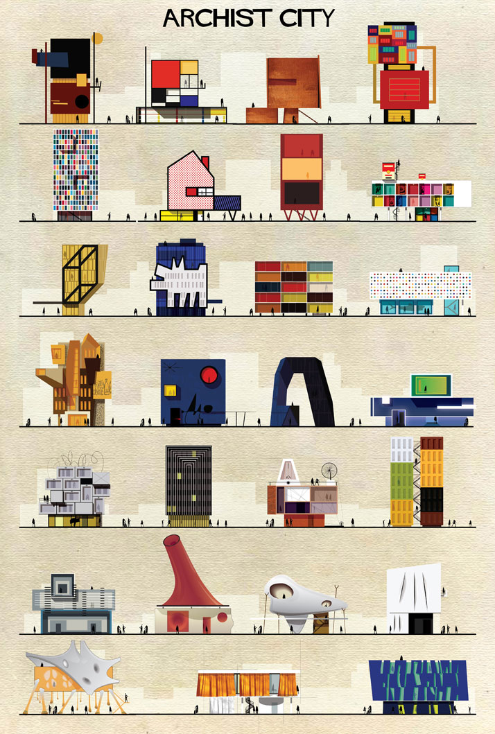 Federico Babina, Archist, 2014. From Visual Families, Copyright Gestalten 2014.