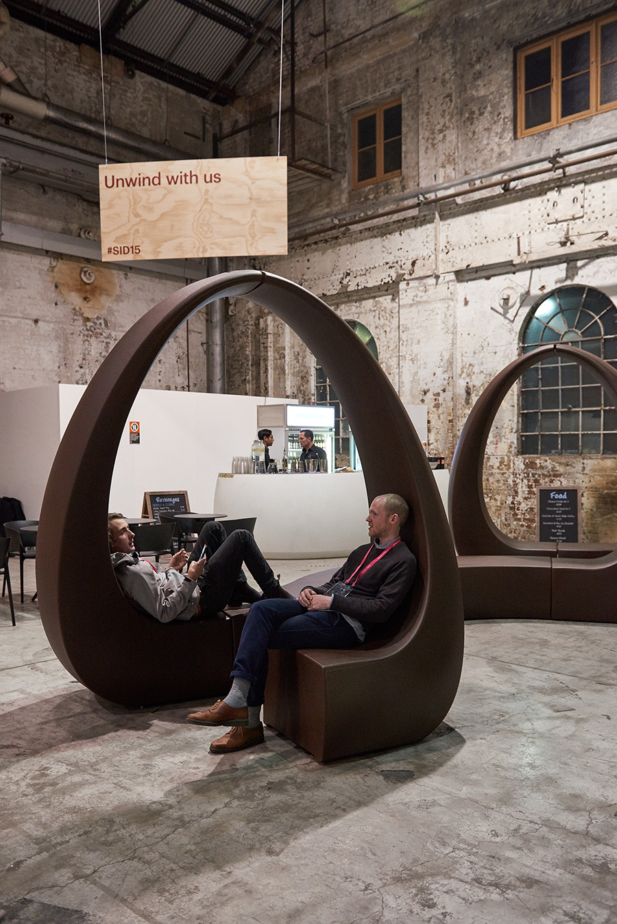 Vondom (represented by Ke-Zu in Australia), provided visitors to the Galleria curated exhibition space with a welcome resting point, before they continued their design journey. Photo: Fiona Susanto, courtesy Indesign Media