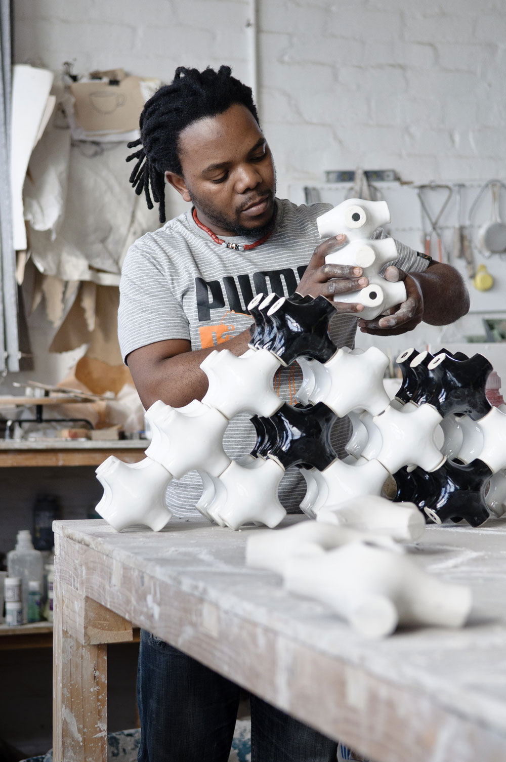 Andile Dyalvane Portrait, 2011, © Imiso Ceramics, Courtesy Southern Guild and Imiso.