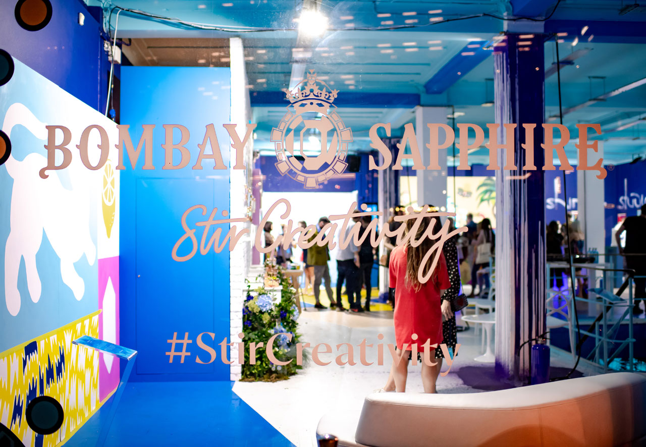 CANVAS event by Bombay Sapphire, London, July2018. Installattion view by Elias Joidos © Yatzerland Ltd.
