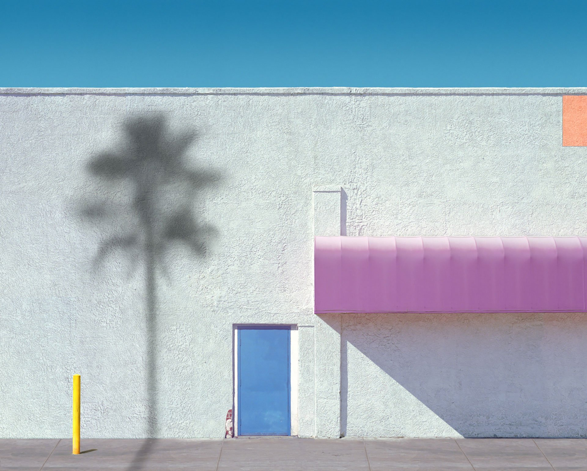 George Byrne Pink Awning with Orange, 2018