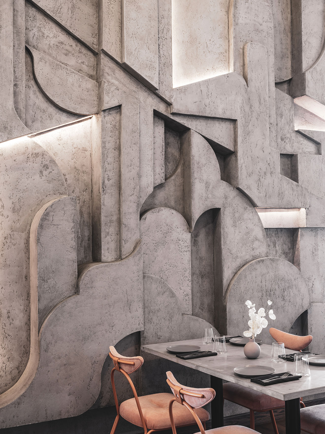 Polet Café by Asthetique in Moscow, Russia. Photography byMikhail Loskutov.
