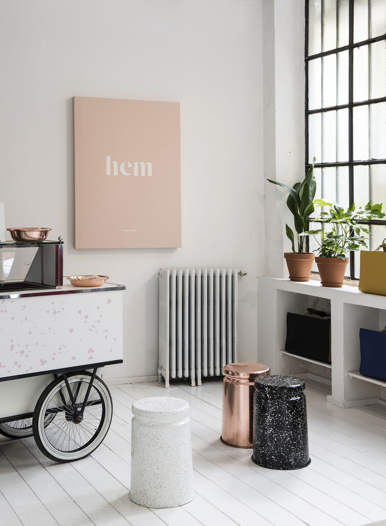 "Hem's products launch in Milan this year celebrated the Italian tradition of gathering... ""Ice Cream Social"" installation preview inspired by gathering, sharing and socialising. Photo by Erik Lefvander."