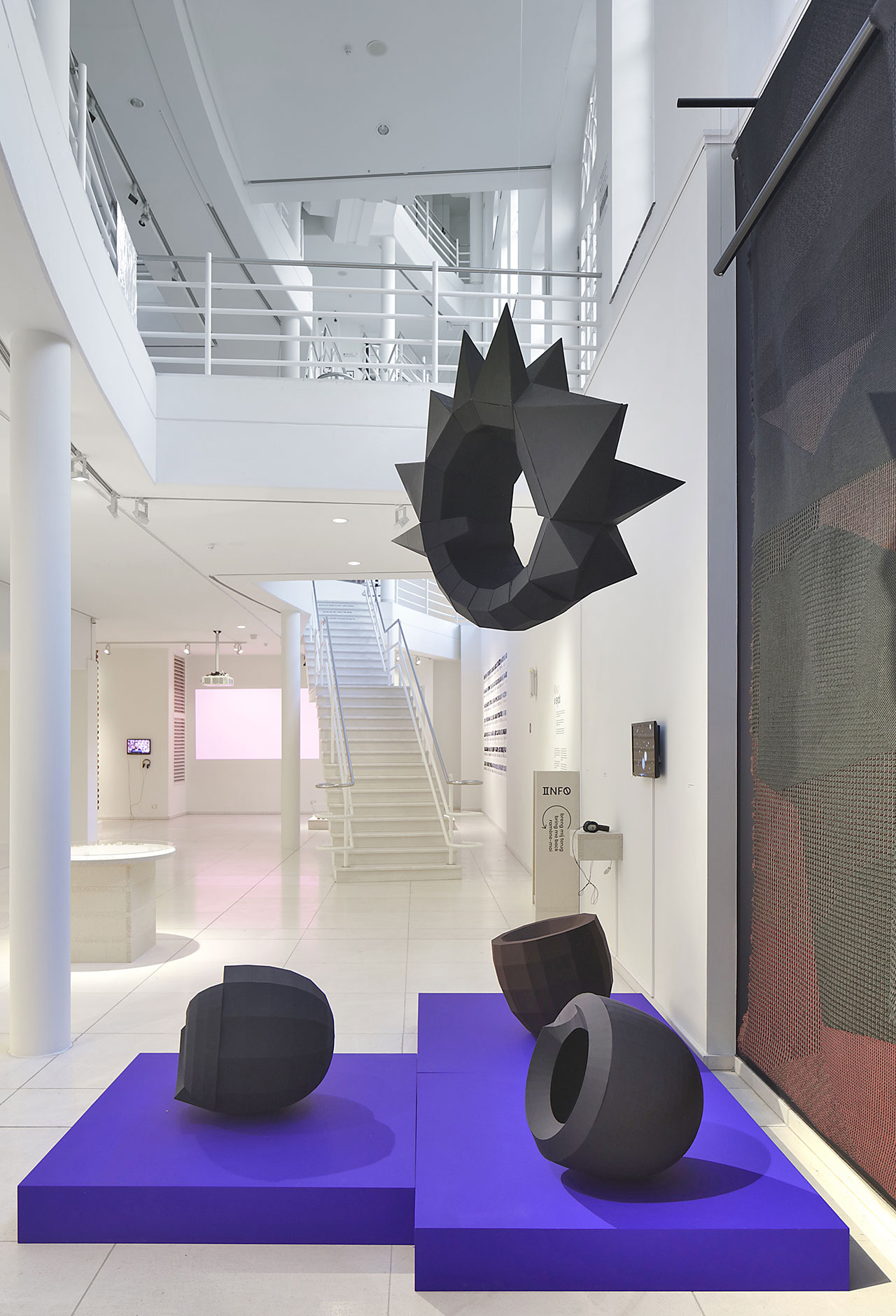"Exhibition view. ""Kleureyck. Van Eyck's Colours in Design"" at Design Museum Ghent. Featured: Hella Jongerius, Colourful Black Installation, 2017-2020. Photo by Filip Dujardin."
