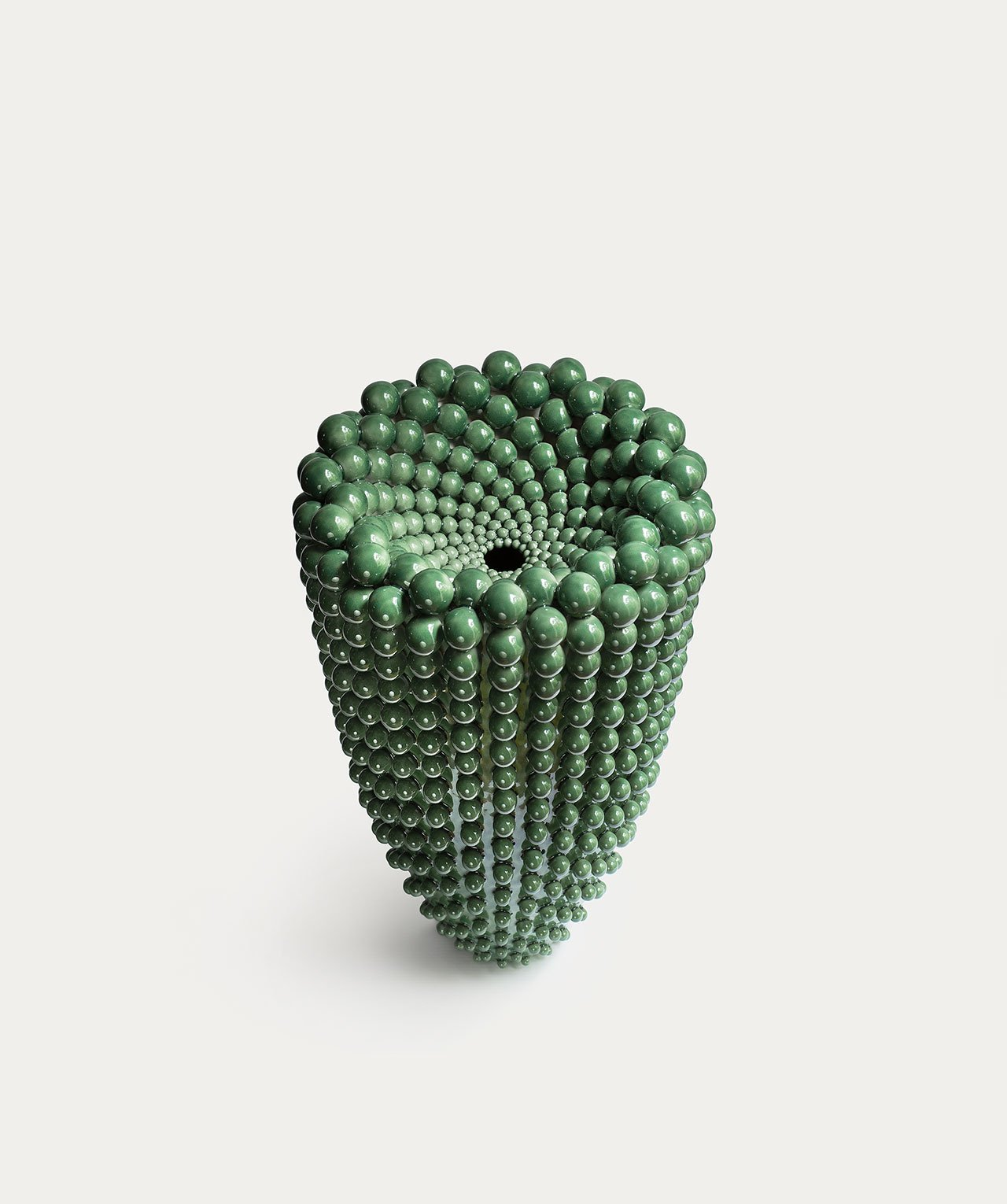 Nicolette Johnson, JADE CONCAVE VASE, 2019.Courtesy of the artist.
