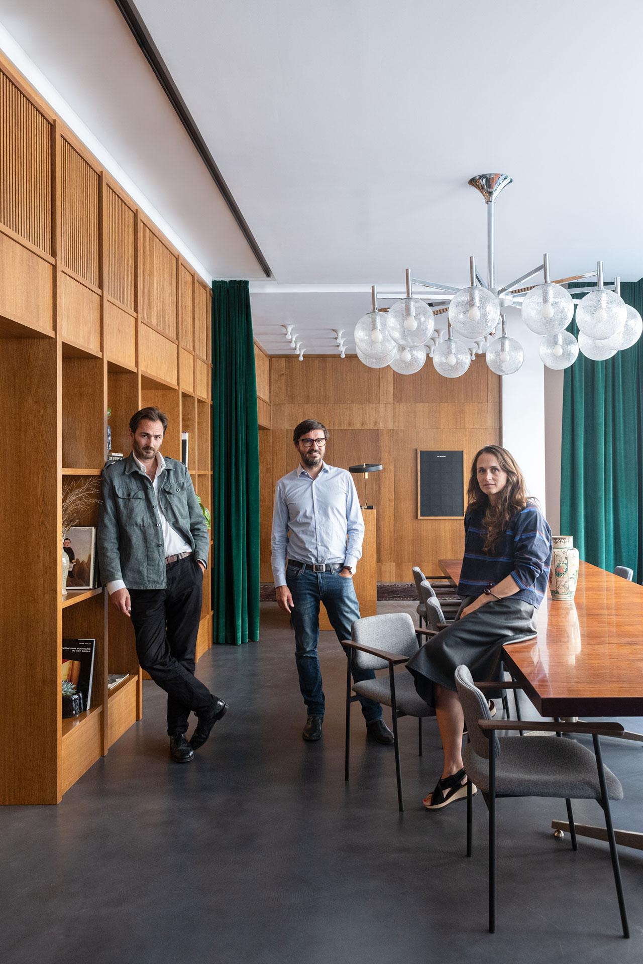 Architect Franklin Azzi, founder of The Bureau Laurent Geneslay, founder of The Socialite FamilyConstance Gennari. Photography © Valerio Geraci