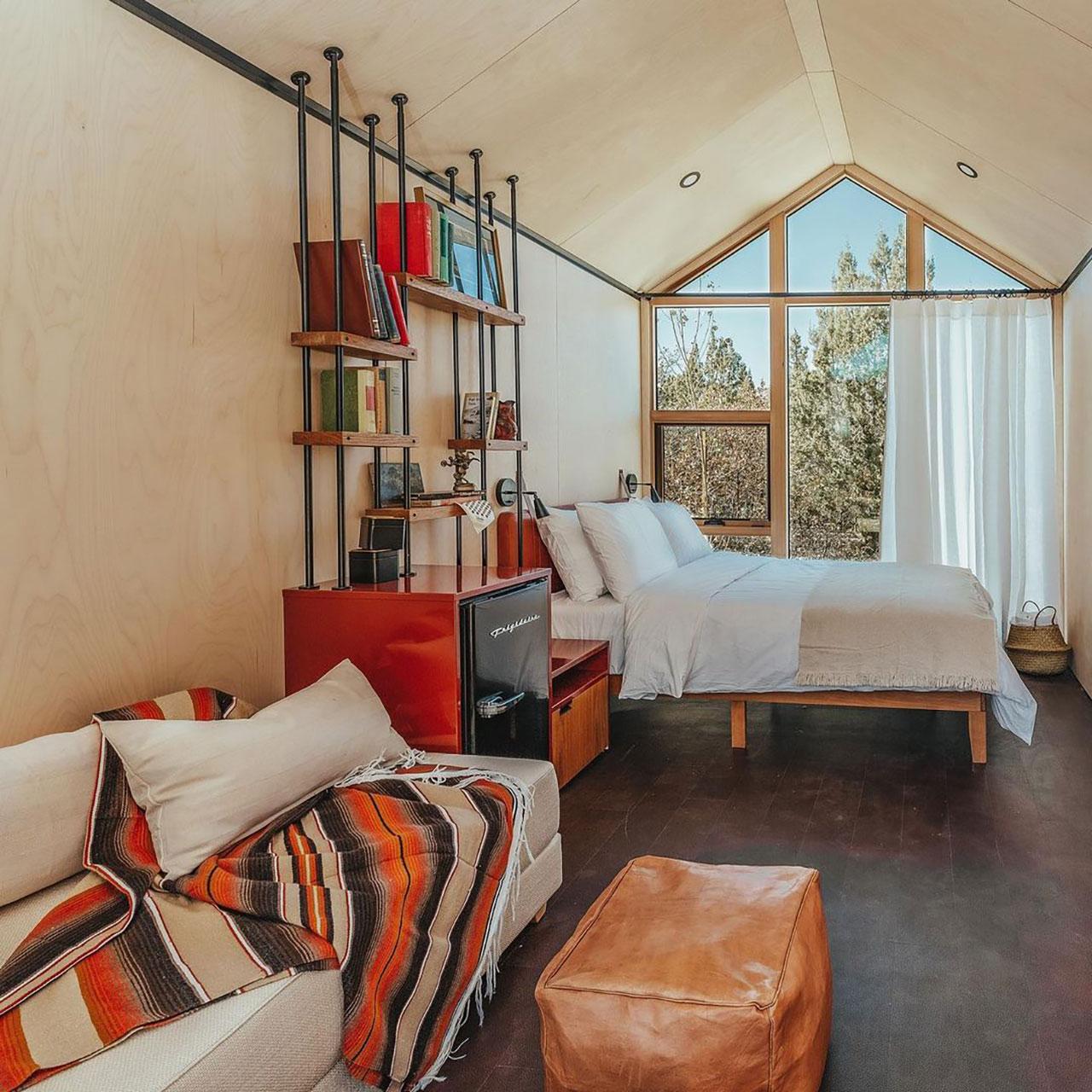 Cabin interior.Photography by Aleks Danielle Butman.