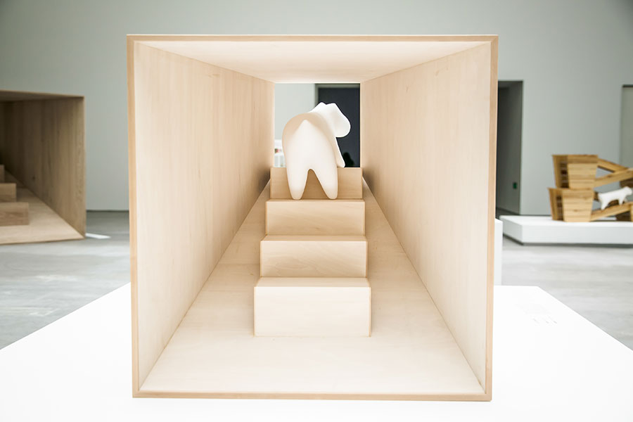 'Architecture for dogs' exhibition.Kenya HARA X Teacup Poodle.Photo by Ding Yifei.