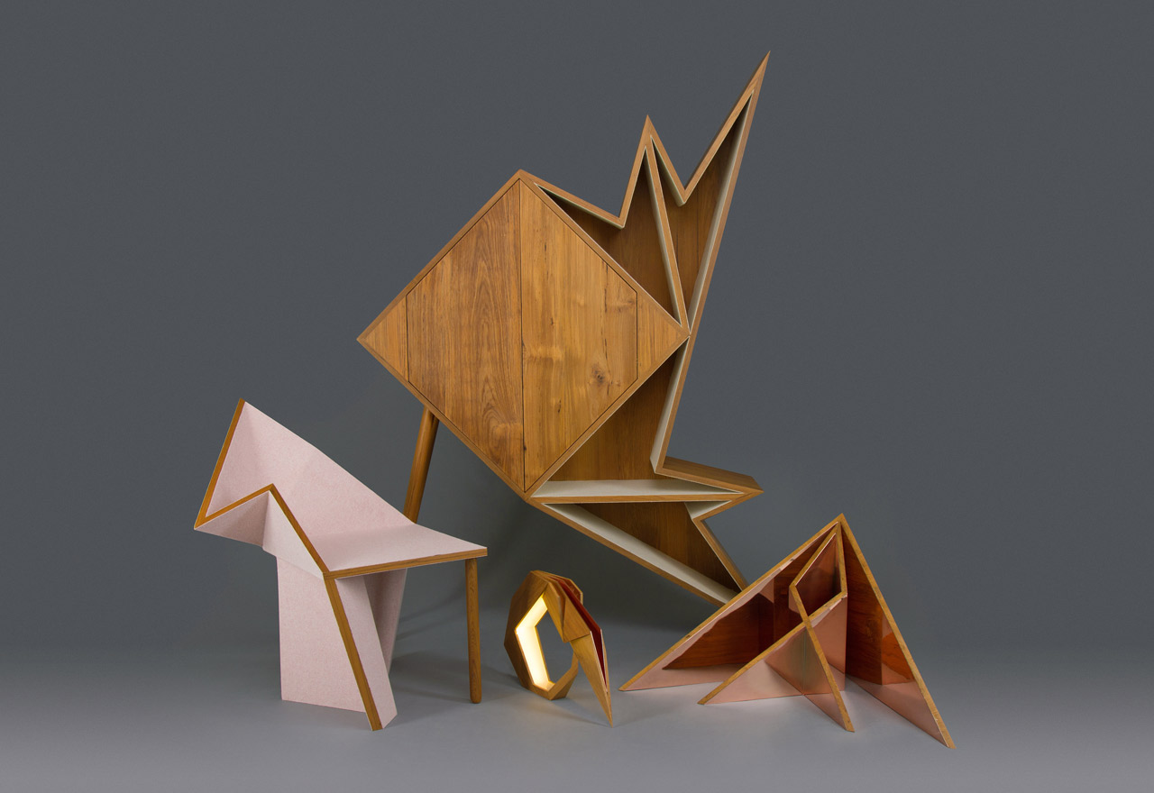 The Oru Series by Aljoud Lootah, inspired by the Art of Paper Folding aka origami.