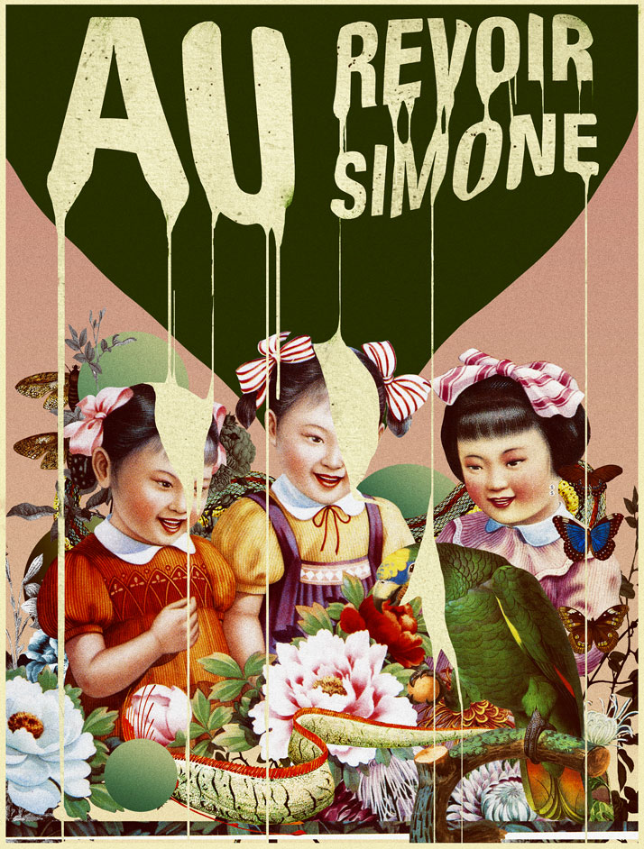 Laurindo Feliciano, Au Revoir Simone. Poster for the Brazilian tour of American music band Au Revoire Simone. Courtesy of the artist.