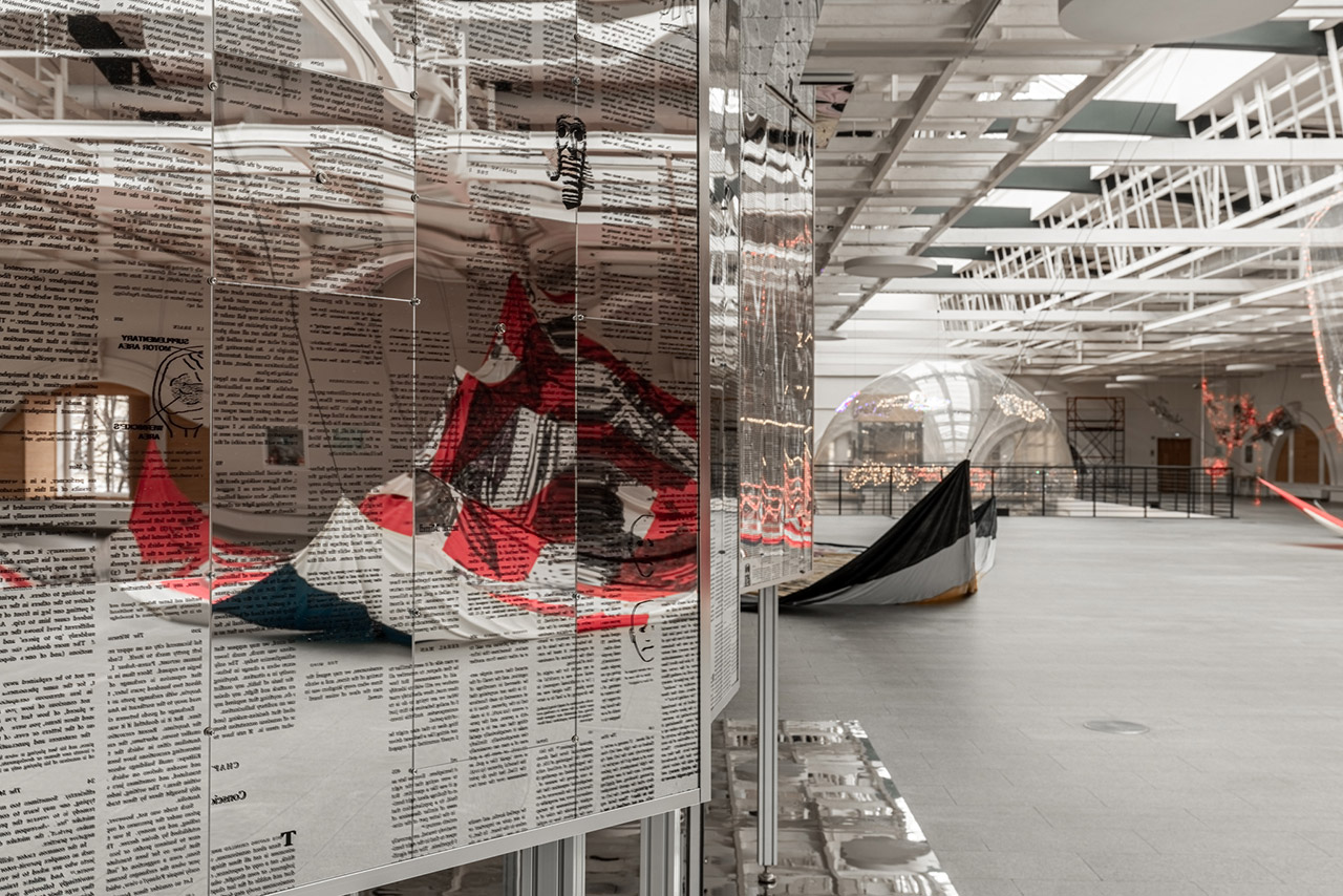 """Exhibition view. """"Utopia Saved"""" at the Manege Central Exhibition Hall. Photo by Vasily Bulanov."""