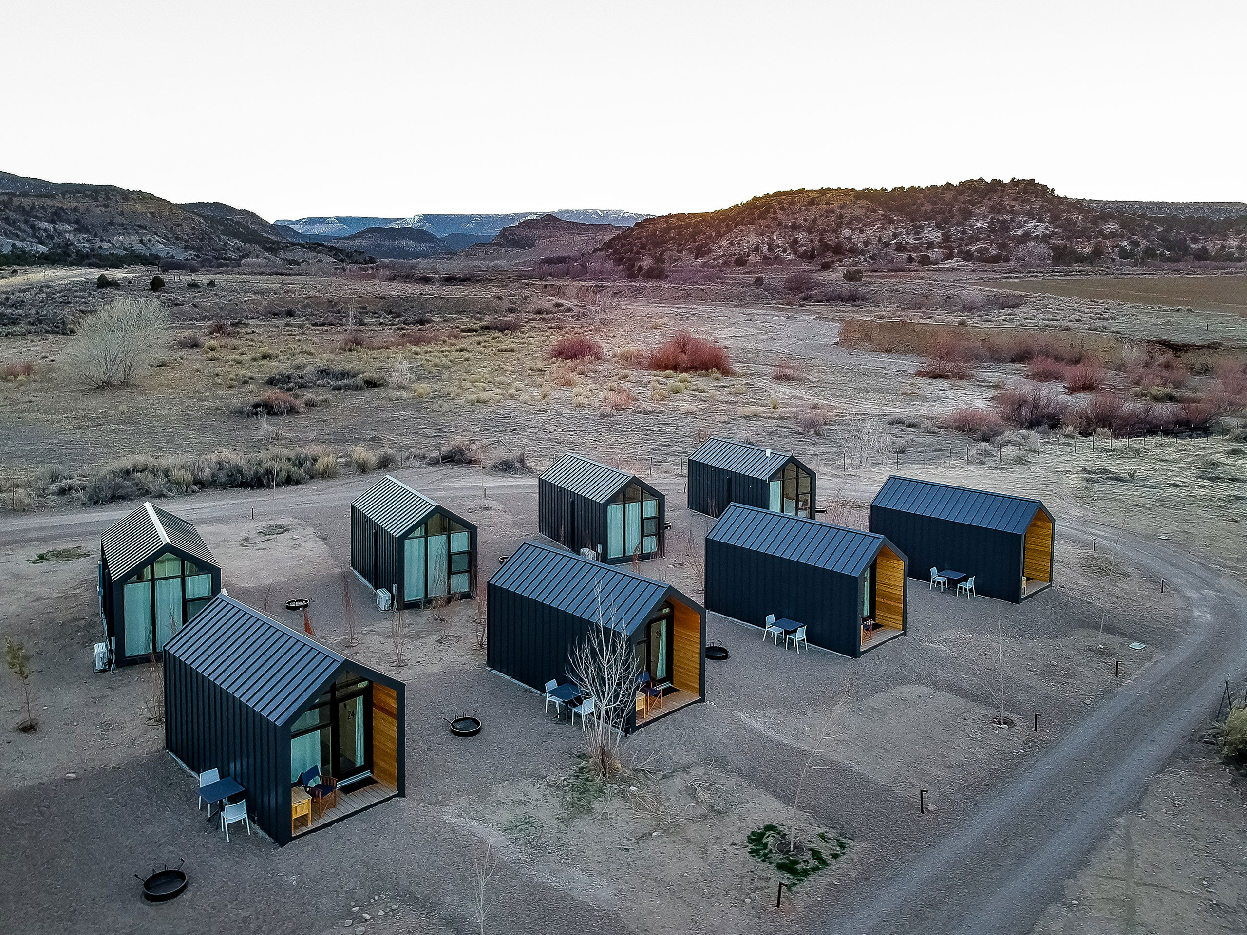 Cabins.Photography by Aleks Danielle Butman.