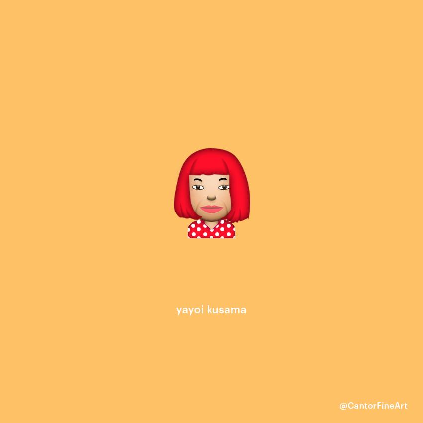 Yayoi Kusama | Art Emoji © Cantor Fine Art, Los Angeles.