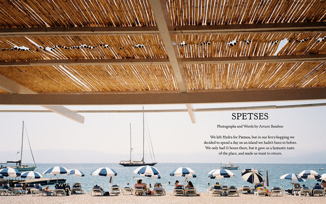 Spetses by Arturo Bamboo. © YOLO Journal No4. Summer 2020.