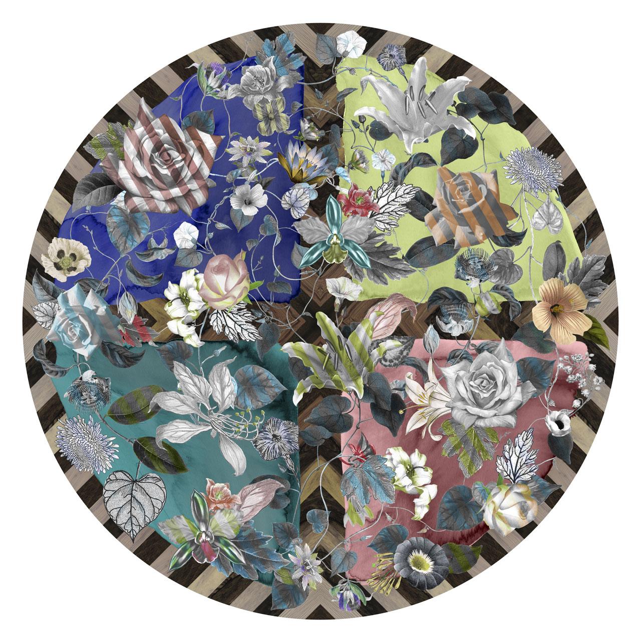 Malmaison carpet series byMaison Christian Lacroixfor the latest MOOOI rugs collection.