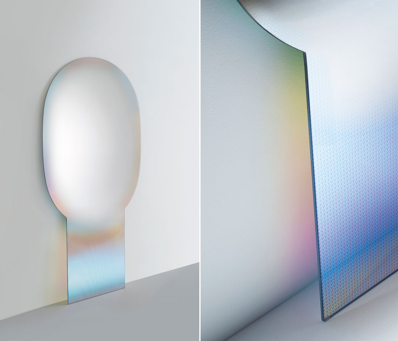 Mirror from theSHIMMER series byPatricia Urquiola for Glas Italia.