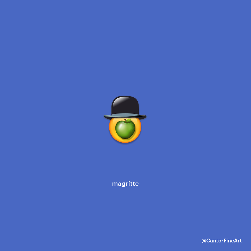 The Son of Man | René Magritte | Art Emoji © Cantor Fine Art, Los Angeles.