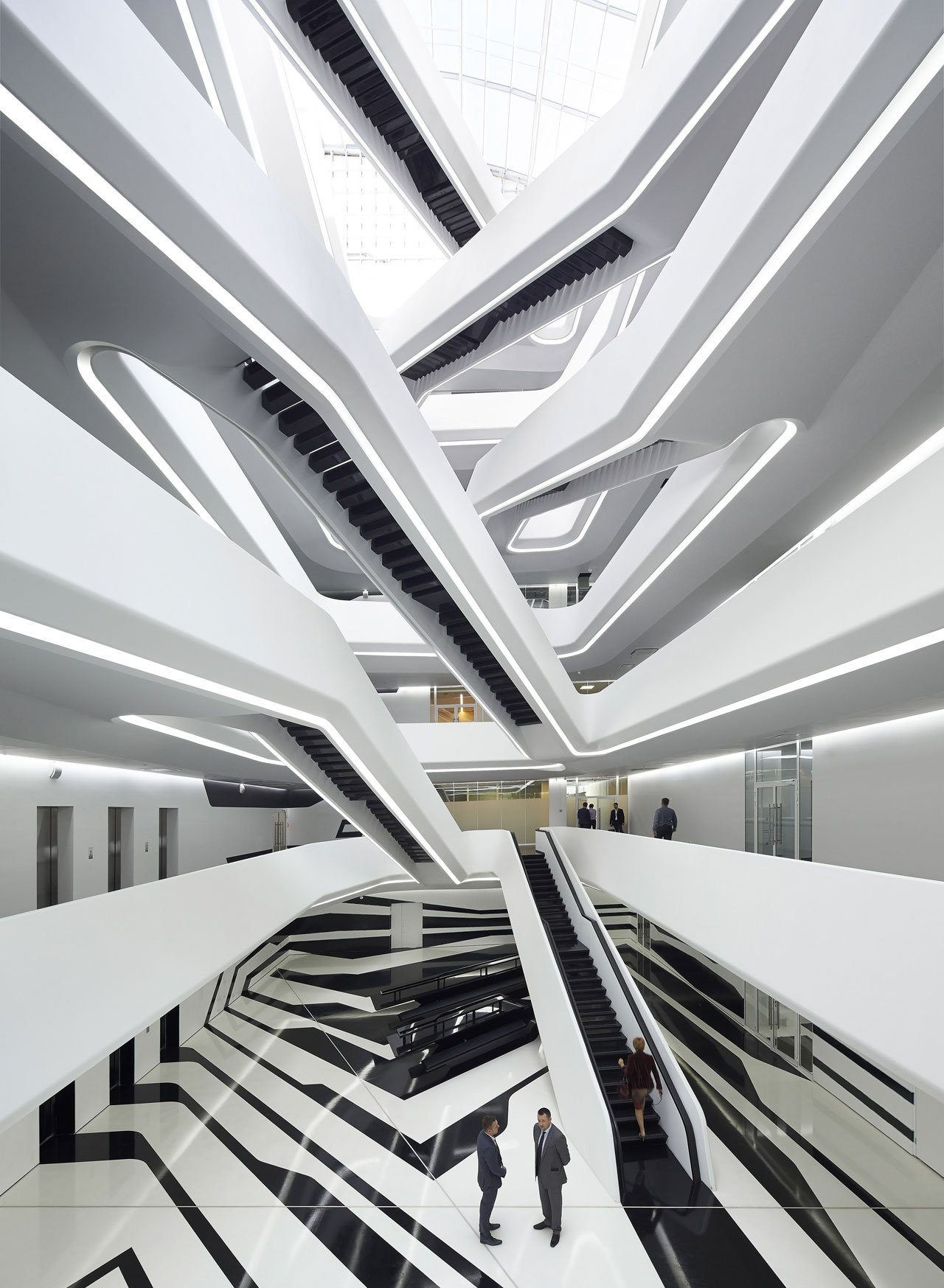 Dominion Office Space by Zaha Hadid Architects. Photo © Hufton + Crow Photographers.