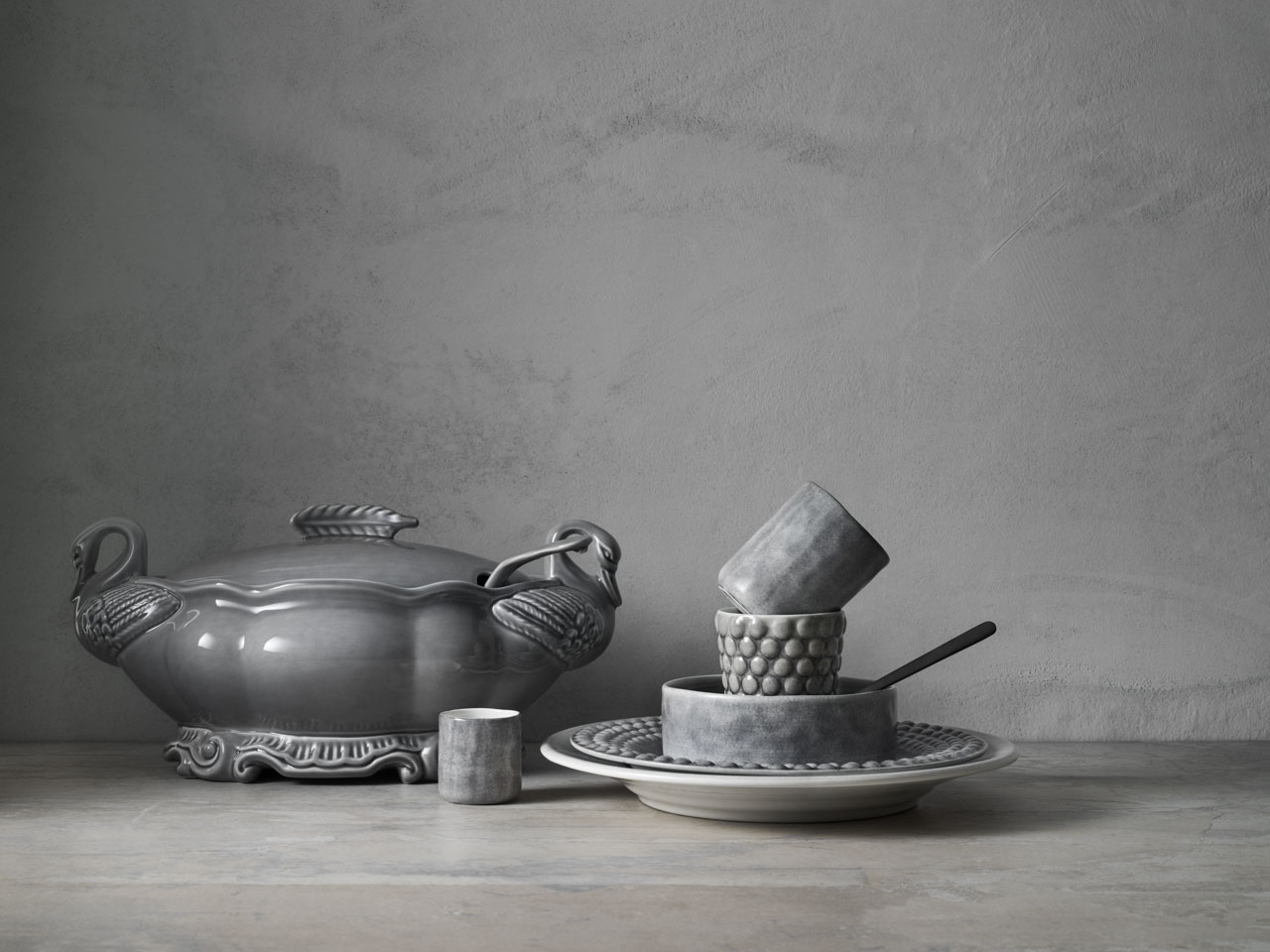 "Mateus ceramic tableware collections combined together with the new ""Mateus meets Sam Baron meets Yatzer"" .Styling by Lotta Agaton.Photo by Fabian Björnstjerna."