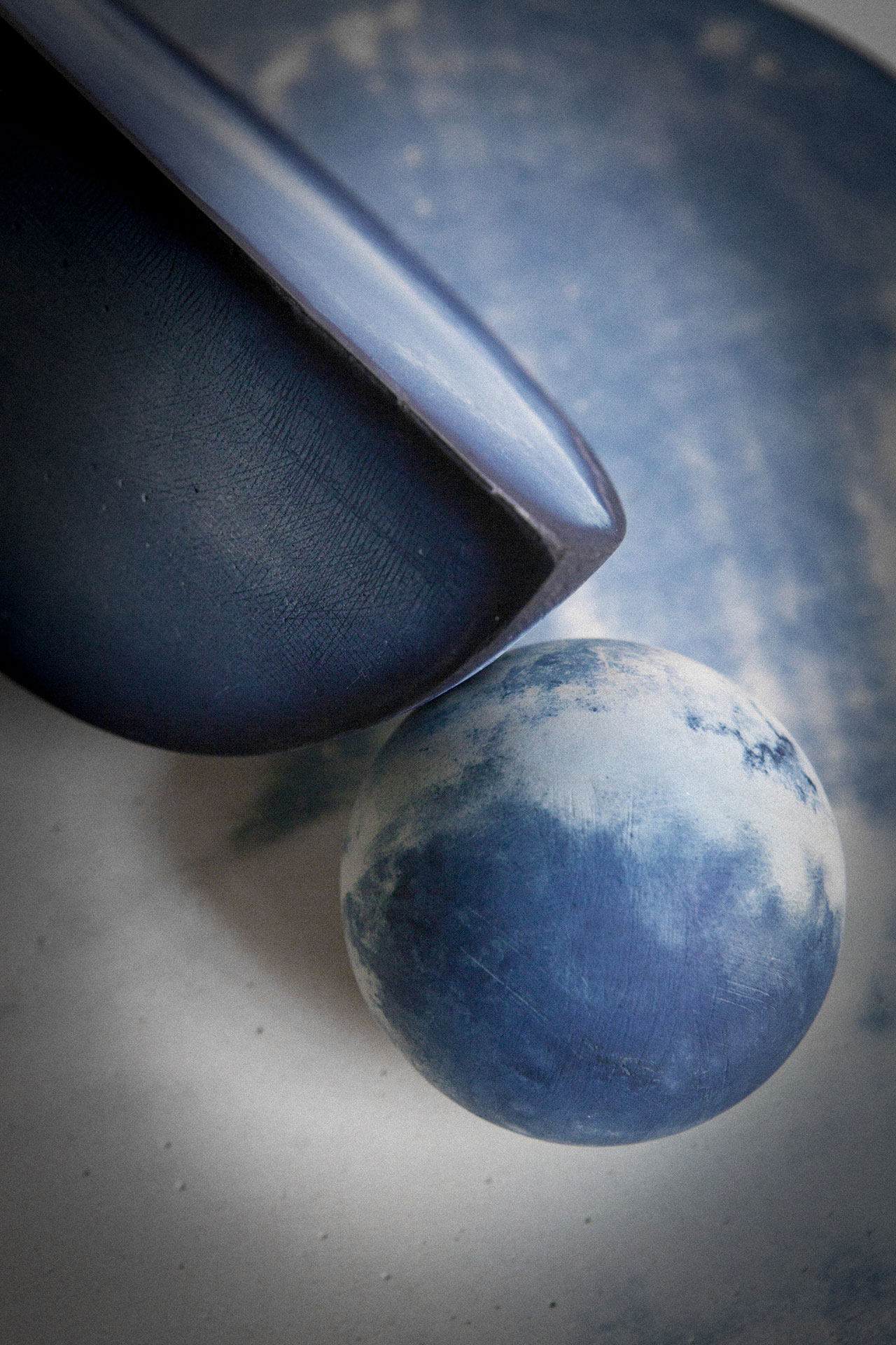 A detail from one of the limited edition sculptures from the Out of the Blue series by Studiopepe. Photo by Silvia Rivoltella.