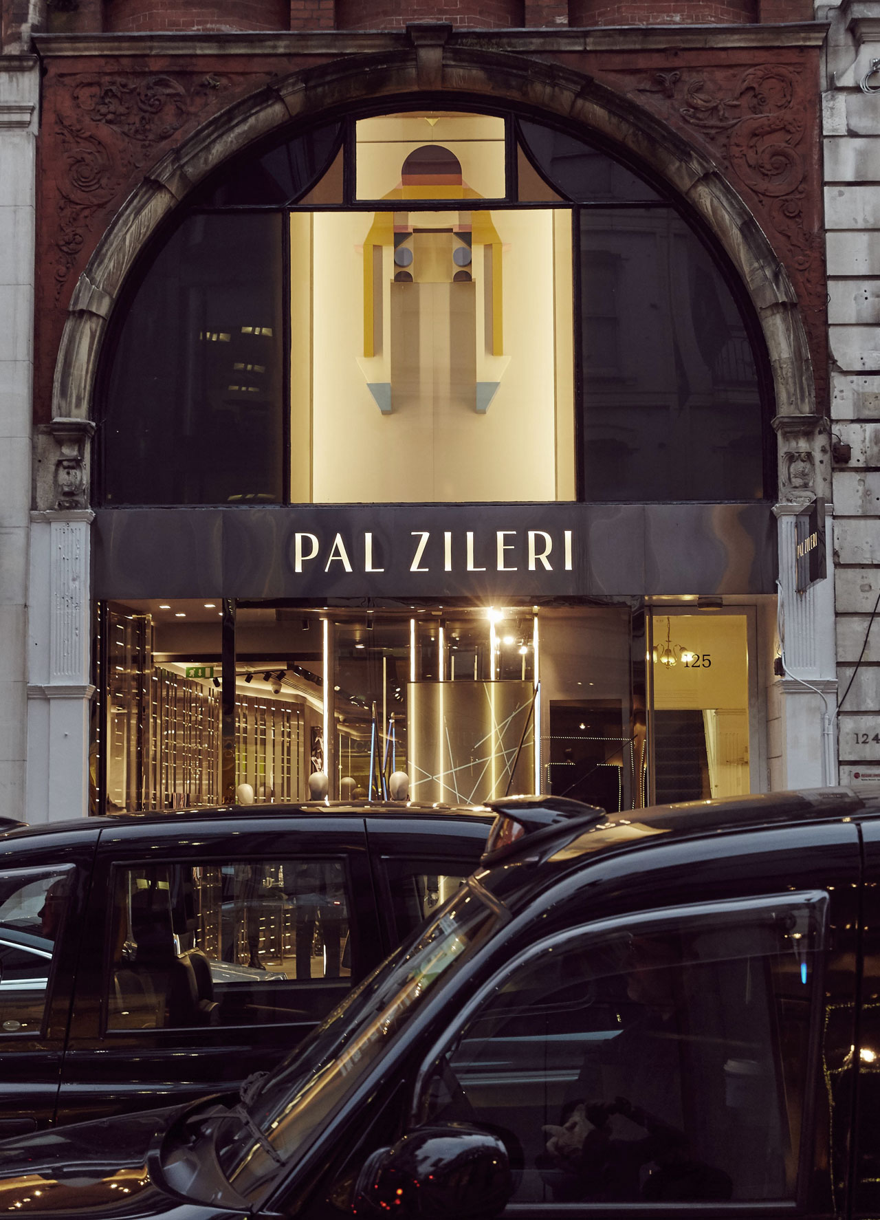 'Muon Cript' by Amba Sayal-Bennett displayed at the Pal Zileri boutique on New Bond Street in London during the Frieze Art Fair 2015. Photo © Pal Zileri.