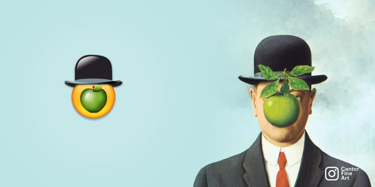 THE INSPIRATIONThe Son of Man | René Magritte | Art Emoji © Cantor Fine Art, Los Angeles.