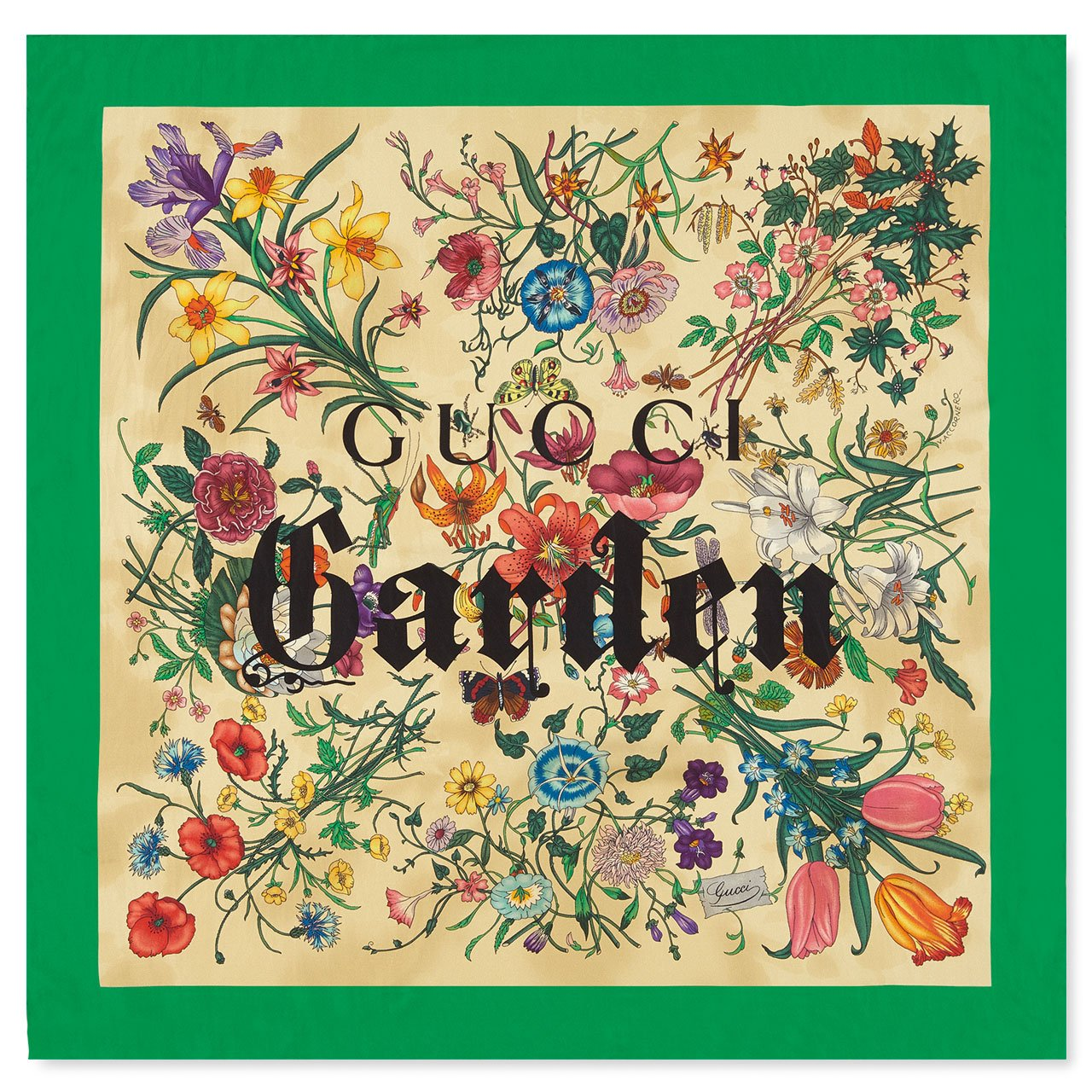 Silk handkerchief from the Gucci Garden series. Photo © Gucci.