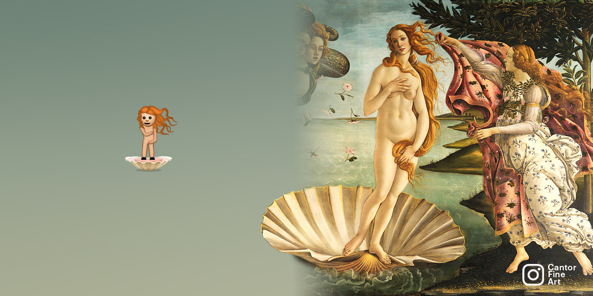 THE INSPIRATIONThe Birth of Venus | Sandro Botticelli | Art Emoji © Cantor Fine Art, Los Angeles.