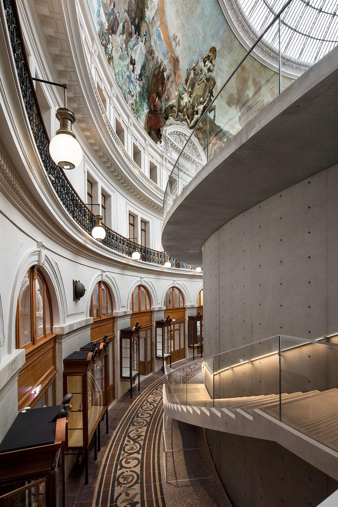 Bourse de Commerce — Pinault Collection © Tadao Ando Architect & Associates, Niney et Marca Architectes, Agence Pierre-Antoine Gatier. Photography byPatrick Tourneboeuf.