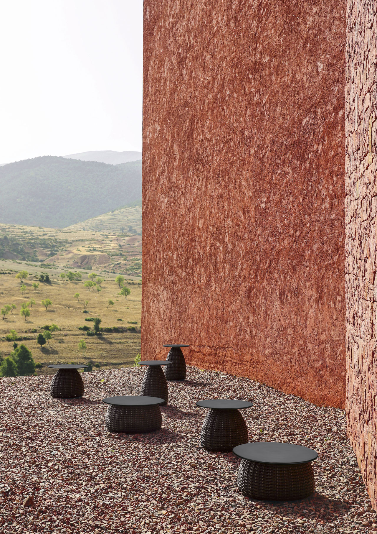 PORCINI side tables by Lorenza Bozzoli for DEDON.