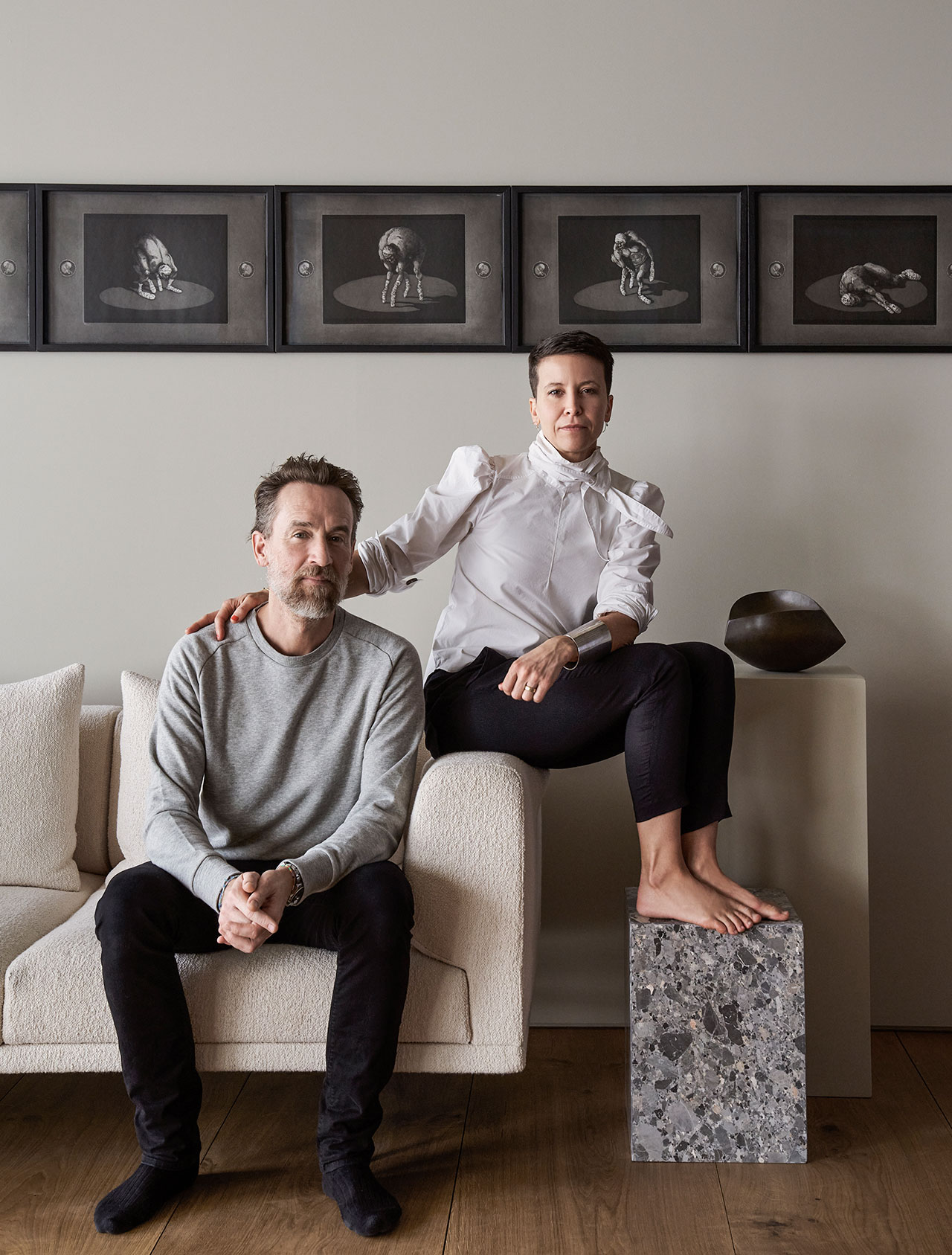 Photography by Adrian Gaut.Styling by Colin King. © Vipp Portrait of Sofie Christensen Egelund, 3rd generation Vipp-owner and her husband Frank Christensen Egelund.