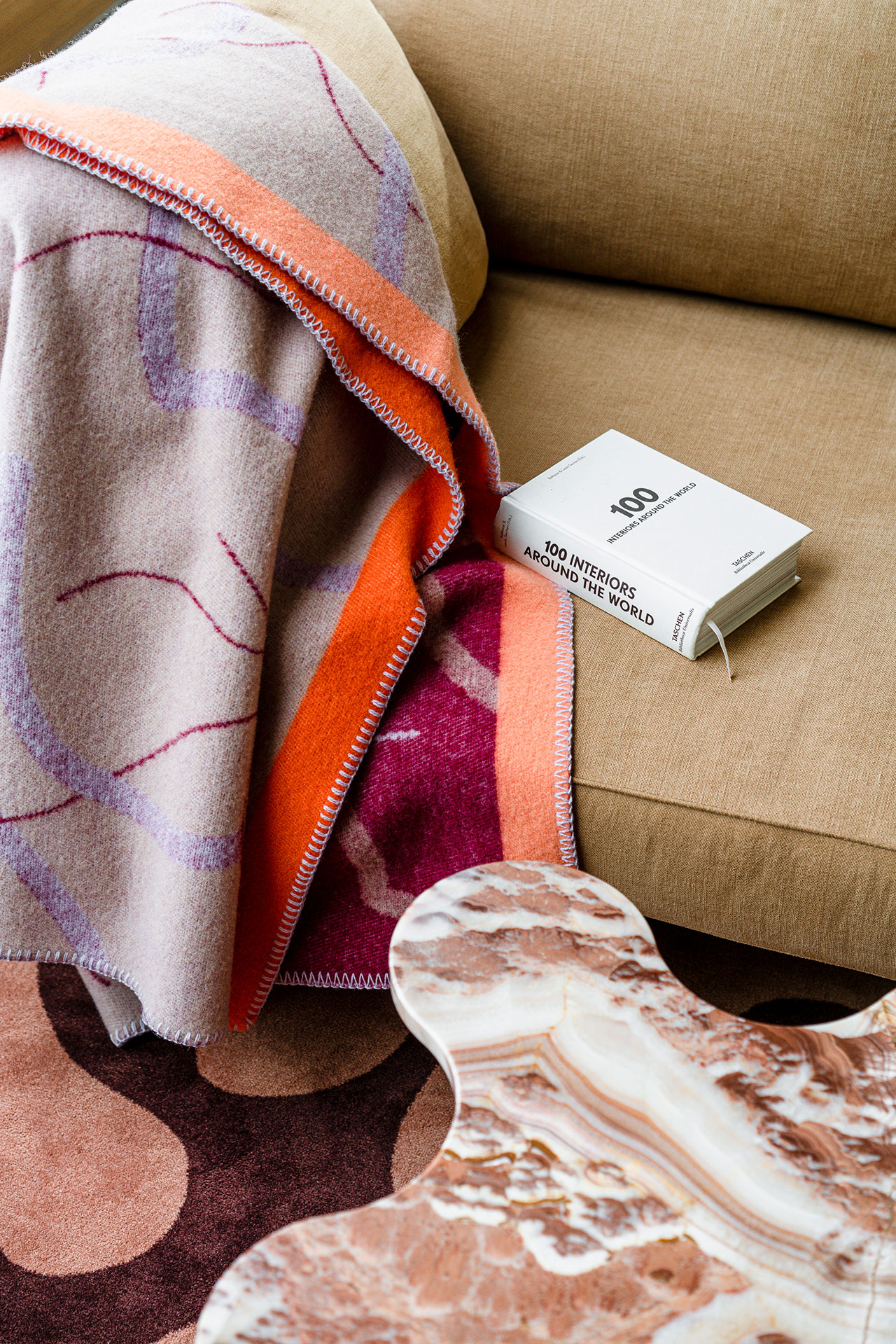 Wool throw by Maria Jeglińska for Røros Tweed. Photography by PION Studio.