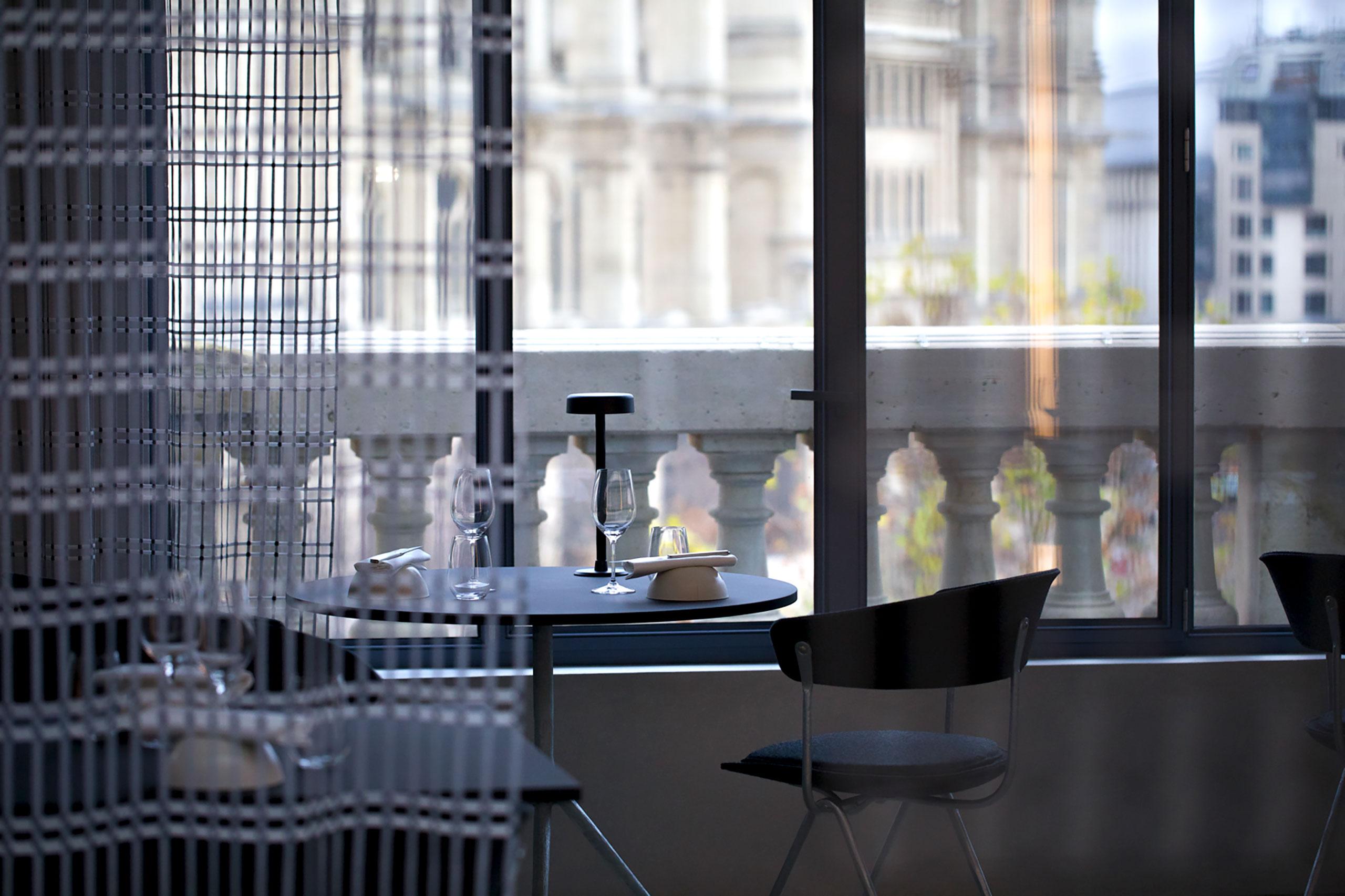 Bras - La Halle aux grains.Restaurant-Café at the 3rd floor ofBourse de Commerce.Photo Laurent Dupont