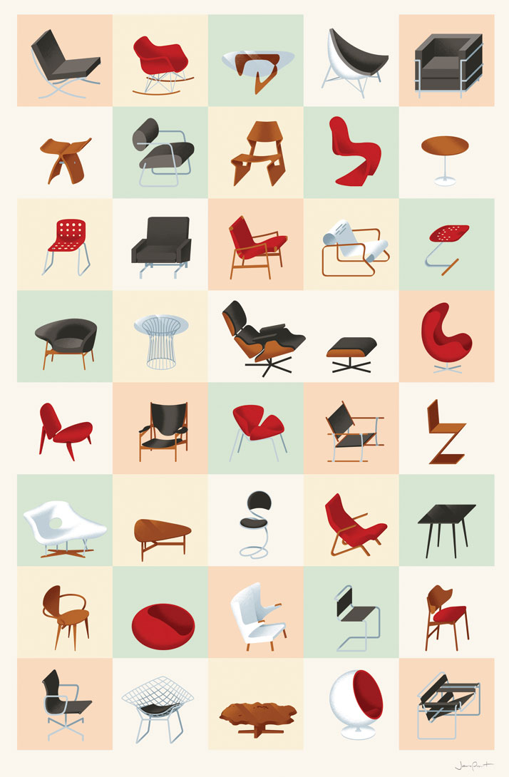 James Provost, Mid-century Modern Furniture, 2009. From Visual Families, Copyright Gestalten 2014.