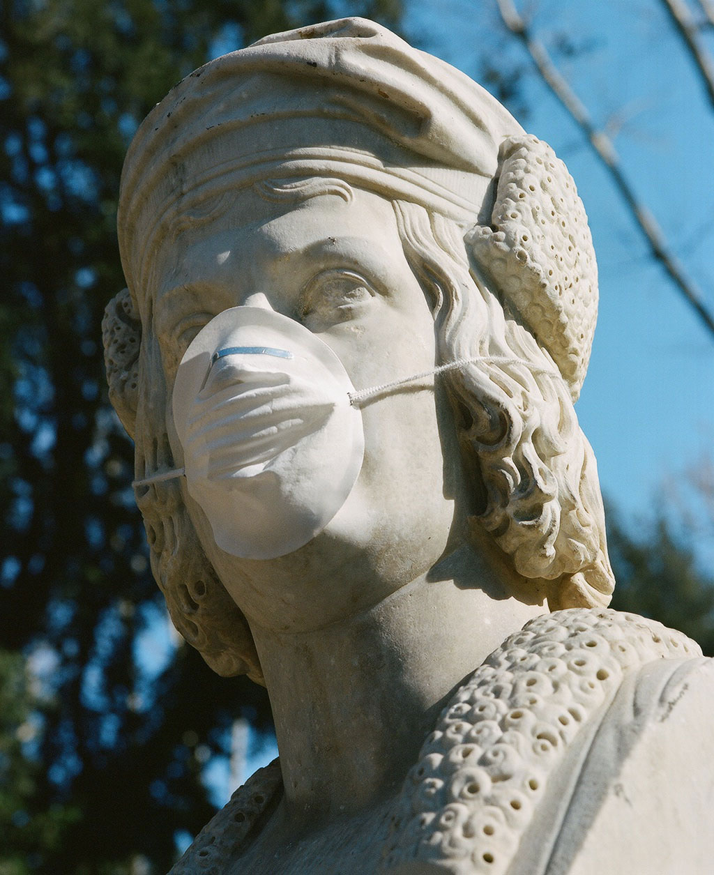 Bust of explorer Christopher Columbus (1451-1506) at Villa Borghese gardens, Rome. Photo © Federico Pestilli.