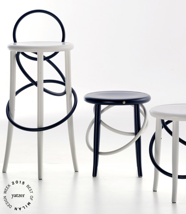 The Cirque family of stools by Martino Gamper for Gebrüder Thonet Vienna GmbH.