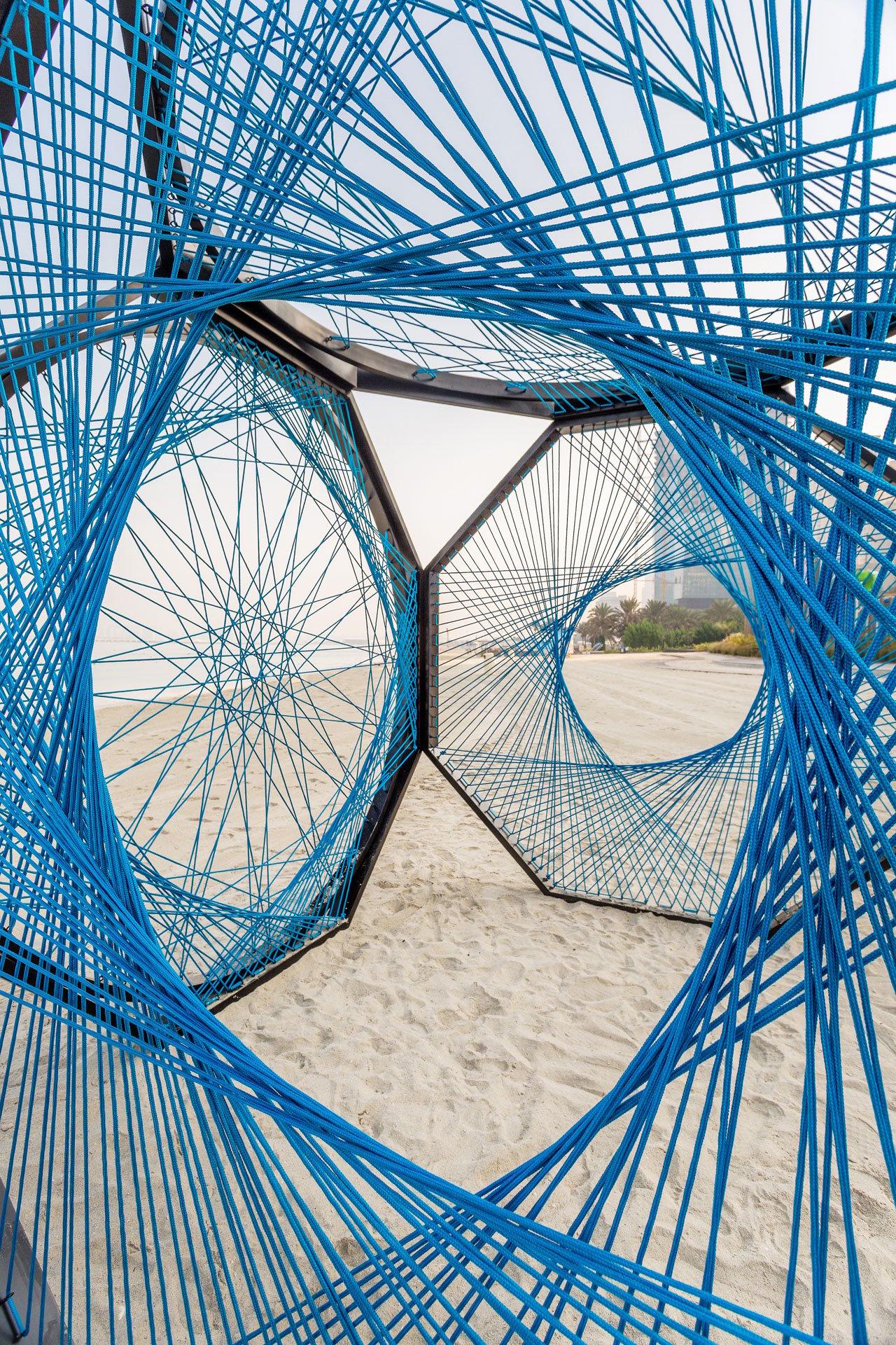 Yaroof installation byAljoud Lootah. AtThe Beach, Opposite JBR, Dubai.