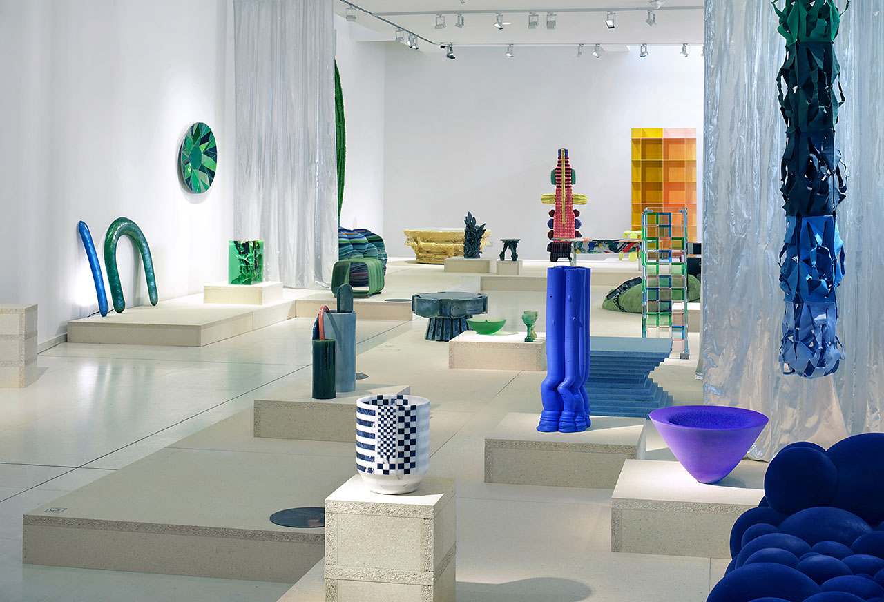 "Exhibition view. ""Kleureyck. Van Eyck's Colours in Design"" at Design Museum Ghent. Photo by Filip Dujardin."