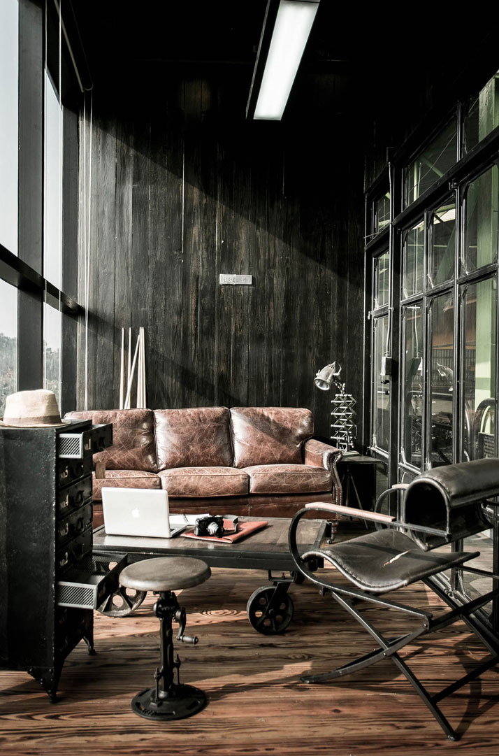 S construction offices in bangkok thailand by metaphor - Vintage industrial interior design ...