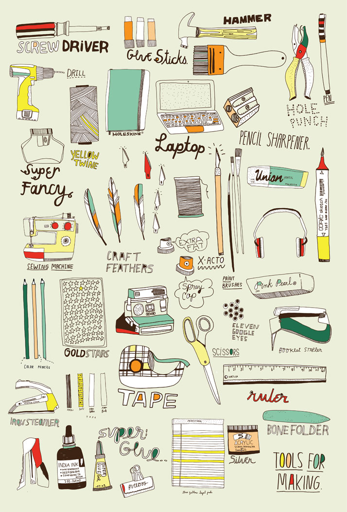 Kate Bingaman-Burt, Tools For Making, 2008-2014. From Visual Families, Copyright Gestalten 2014.