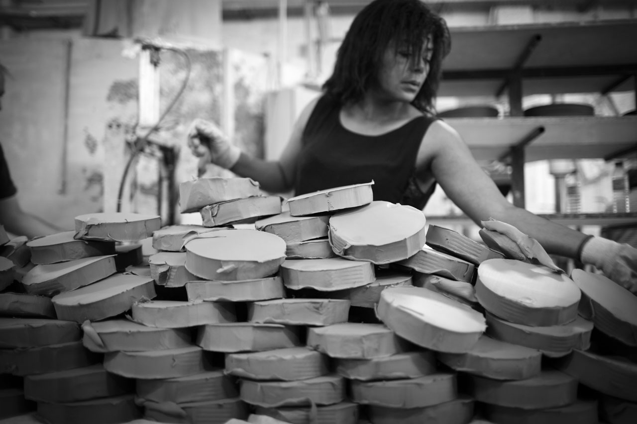 "The making of ""Mateus meets Sam Baron meets Yatzer"" ceramic tableware collection.Photo by Per Ranung."