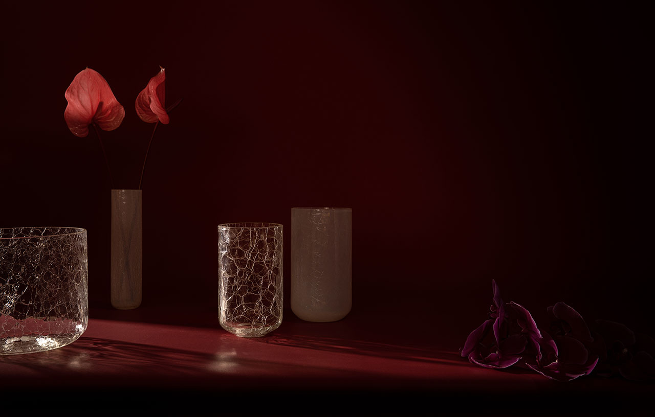 Crackle Vase Collection by ADesignStudio (Alex Fitzpatrick).