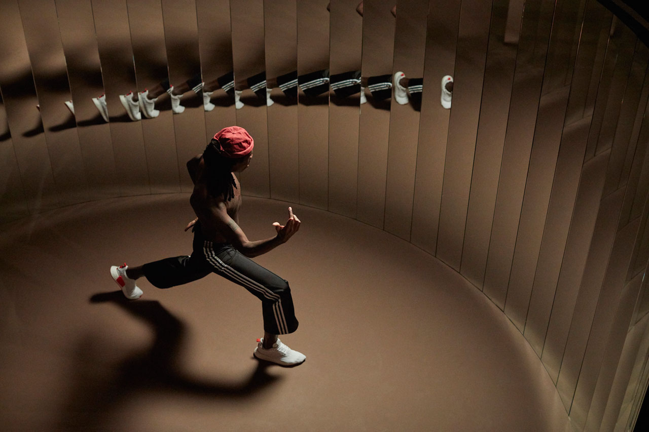 Musician Dev Hynes explodes into dozens of reflections.