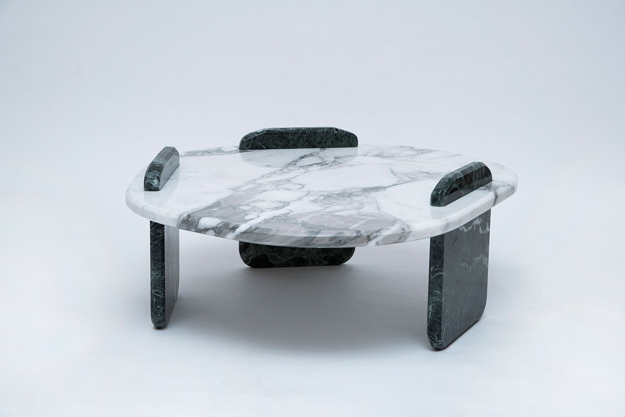 Low marble table by Thomas Trad, part of Adorno's Beirut Collection. © 2018 Adorno ApS