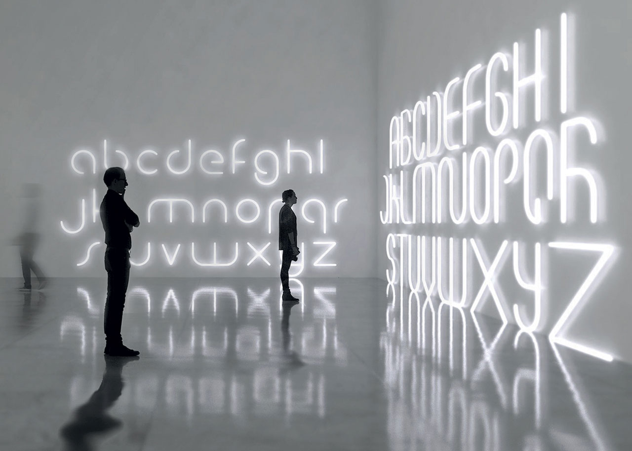 Modular Alphabet of Light by BIG (Bjarke Ingels Group) for Artemide.