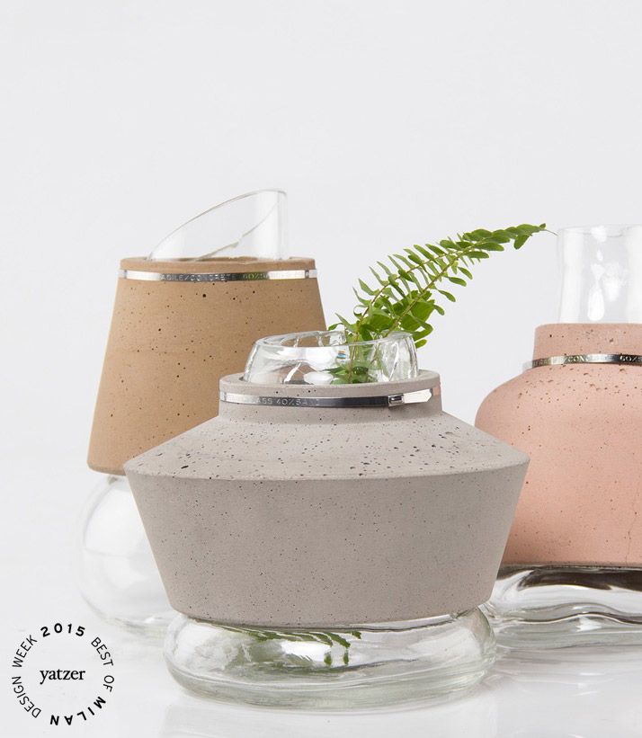 100% SAND project (60% Concrete & 40% Glass) by Anabella Vivas. (spotted on Ventura lambrate).