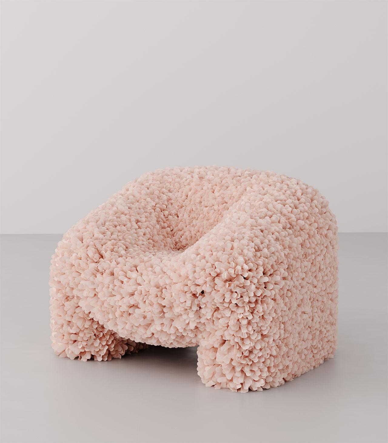 Andrés Reisinger (co-designer Júlia Esqué), Hortensia Chair, 2018-2019. Photo © Andrés Reisinger & Júlia Esqué