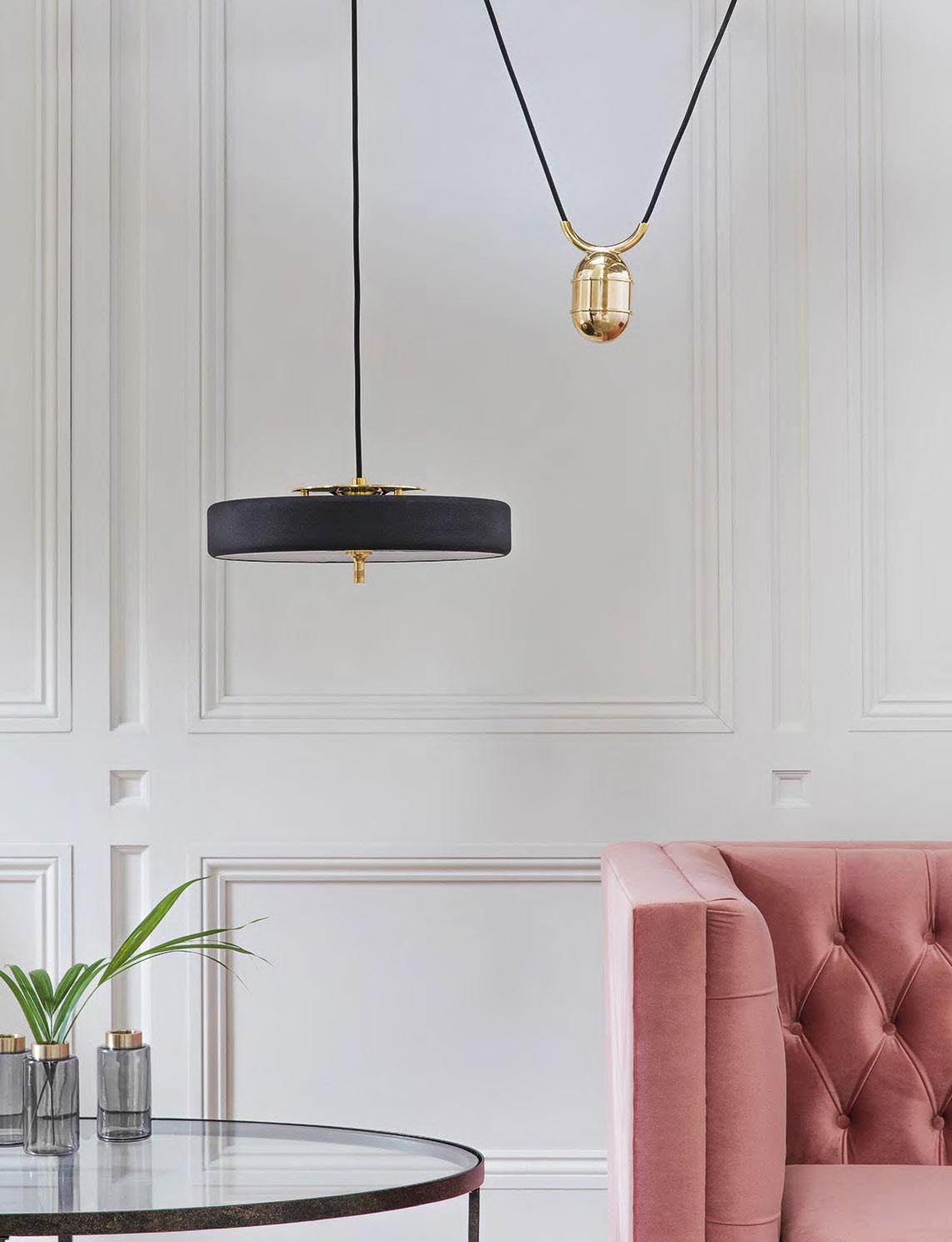 REVOLVE RISE & FALL pendant lamp by Bert Frank.